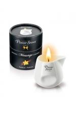 Bougie de massage - Vanille : Bougie érotique se transformant en huile de massage sensuelle au goût gourmand de vanille.