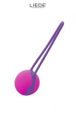 Uno Love Ball violet et fushia - Liebe : Love Ball unique couleur violet et fushia, en silicone premium, hyper silencieuse, idéale à porter au quotidien.