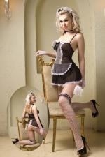 Déguisement sexy soubrette 8 pièces : Costume sexy de soubrette contenant 8 pièces, par la marque Paris Hollywood.