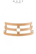 Ceinture et menottes marron - Maze : Une merveilleuse ceinture 100% Vegan, qui se transforme en accessoire de contrainte: ceinture, menottes et laisse.