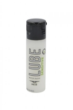 Lubrifiant Mister B Lube Sensitive 30 ml : Lubrifiant à base d'eau, Aloe Vera et vitamine E, spécial peaux sensibles qui répare et hydrate la peau, évite les irritations, taille voyage.