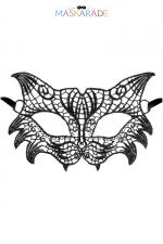 Loup broderie souple Chicago : Loup noir en dentelle brodée souple, de style rétro, pour vos soirées déguisées ou coquines, par Maskarade.