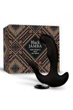 Stimulateur anal vibrant télécommandé unisexe - Black Jamba : Plug anal et stimulateur de point G et clitoris vibrant, chauffant, télécommandé et rechargeable, par Feelztoys.